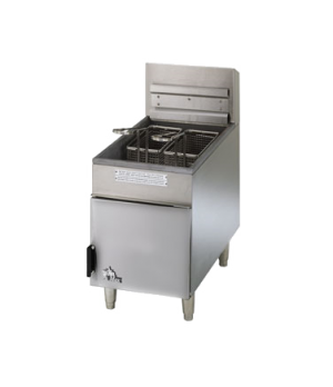 Star-Max® Heavy Duty Fryer, countertop, gas, twin baskets, 18 lb capacity, with