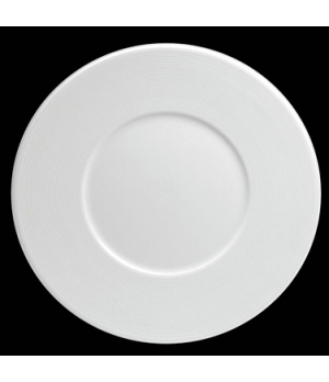 "Plate, 9-3/4"" dia. (5-1/4"" well), round, flat, wide rim, porcelain, Tria, Wish ("