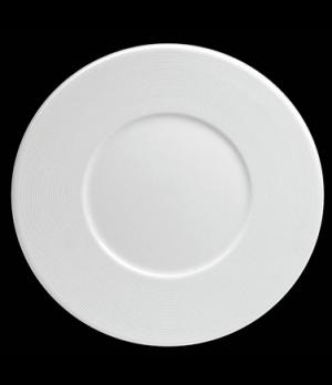 "Plate, 9-3/4"" dia. (5-1/4"" well), round, flat, wide rim, porcelain, Tria, Wish ("