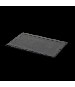 "Maincourse Plate, 12-1/2"" X 8-1/4"", rectangular, dressed, with feet, oven/microw"