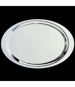 "Tray, 9-1/4"" x 5-1/2"", oval, stainless steel, La Tavola, Buffet (Special Order)"