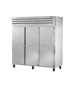 SPEC SERIES® Freezer, Reach-In, -10°F, three-section, stainless steel front & si