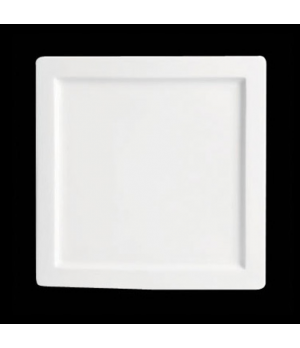 "Plate, 8-1/4"", square, rimmed, porcelain, Tria, Simple Plus (minimum = case quan"