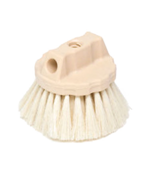 Wash Brush, round block, tampico fill, yellow