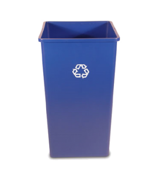 "Recycling Container, 50 gallon, 19-1/2"" x 34-1/4""H, square, with recycle symbol,"