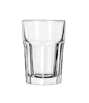 "Beverage Glass, 12 oz., DuraTuff®, GIBRALTAR®, (H 4-7/8""; T 3-1/4""; B 2-5/8""; D"