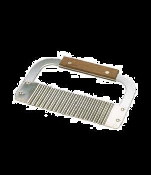 "Garnish/Serrator, 7"" x 2"", hardwood handle, stainless steel corrugated blade"