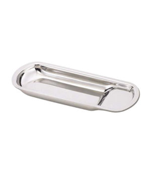 "Spoon Rest, 10-1/2"" x 4-1/2"", stainless steel"