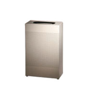 """Silhouette Indoor Receptacle, small rectangular, 10""""L x 19-1/2"""" x 30"""" H, 13 gall"""