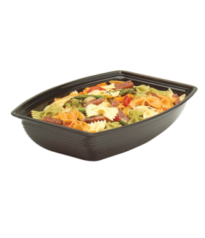 "Camwear® Bowl, ribbed, rectangular, 10-3/4"" x 14-9/16"", 5 qt. capacity, polycarb"