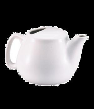 Teapot, 16 oz., ceramic, white