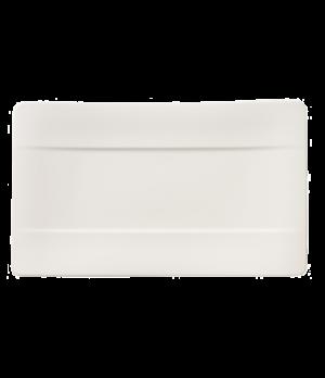 "Sushi Plate, 9-1/2"" x 5-1/2"", premium bone porcelain, Modern Grace"