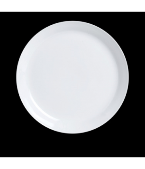 "Form Plate, 9"" dia., round, Varick Cafe Porcelain (USA stock item) (minimum = ca"