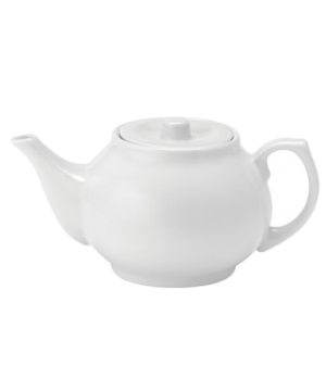 Teapot, 15 oz. (2 cup or 443ml), with lid, microwave & dishwasher safe, Pure Whi