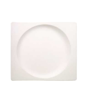 "Plate, 11-3/8"" x 12-5/8"", rectangular, premium porcelain, New Wave"