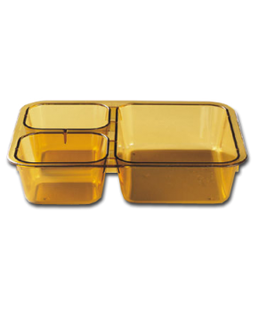 "Tray-on-Tray Meal Delivery, 3-compartment, 8-11/16""L x 6-5/16""W x 1-7/8""D, heat"