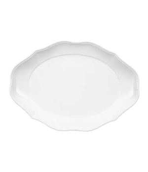 "Pickle Dish/Plate, 9-1/2"" x 6-3/4"", small, oval, premium porcelain, La Scala"