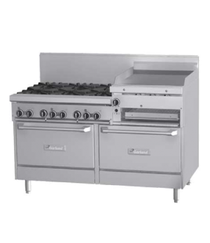 "GF Starfire Pro Series Restaurant Range, gas, 60"", (6 26,000 BTU open burners, w"