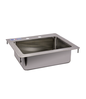 "(39781) Drop-In Sink, one compartment, 14"" wide x 10"" front-to-back x 5"" deep, 3"