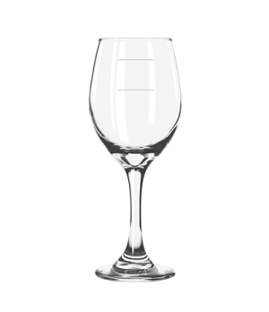 "Wine Glass, 11 oz., 7-7/8"" H, stem, with pour lines, Safedge® Rim & Foot Guarant"