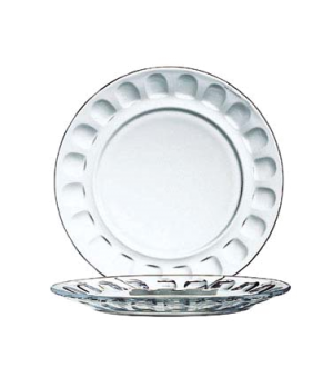 "Salad Plate, 7-1/2"" dia., round, fully tempered, glass, Arcoroc, Roc"