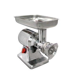 (11051) Meat Grinder, electric, #12 head, polished aluminum body, stainless stee