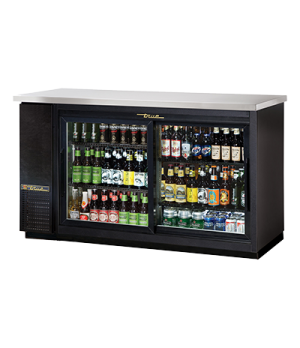 "Back Bar Cooler, two-section, 24"" deep, 35-5/8"" high, (72) 6-packs or (3) 1/2 ke"