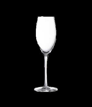 "Flute Glass, 7-1/4 oz., sheer rim, glass, Arcoroc, Malea (H 8-7/8"" T 1-13/16"" B"