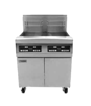 Performance Fryer Battery, gas, (2) 40 lb. oil capacity each, built-in filtratio