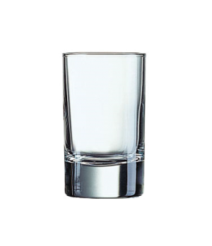 "Whiskey Glass, 3-1/4 oz., glass, Arcoroc, Islande (H 3-7/16""; T 2""; B 1-7/8""; M"