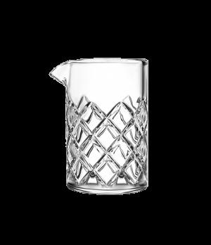 "Yarai Mixing Glass, 14-3/4 oz. capacity, 5-3/8"" H, (4-3/8"" T, 3-1/2"" M; 3-1/2"" B"