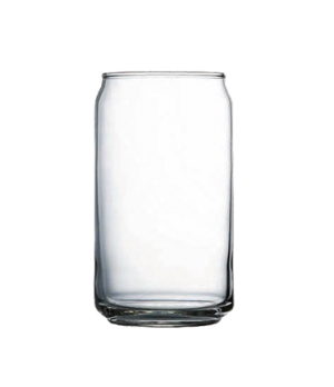 "Beer Can Glass, 16 oz., 5-3/4"" H, can shaped, glass, annealled material (2-5/8"""