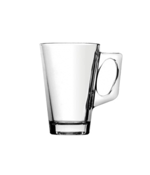 Coffee Mug, 8.8 oz (260 mL), with C-handle, glass, translucent, Glassware