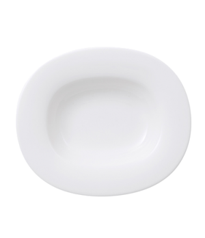 "Plate, 11-1/2 x 9-3/4"", oval, deep, premium porcelain, Affinity"
