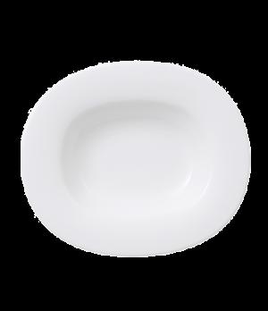 "Plate, 11-1/2 x 9-3/4"", oval, deep, premium porcelain, Affinity"