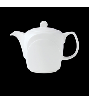 Teapot, 12 oz., Lid C, Distinction, Bianco, Noir (priced per case, packed 6 each