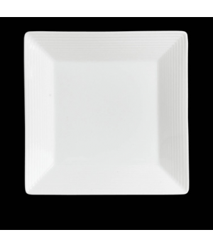 "Plate, 9-1/2"", square, rim deep, porcelain, Rene Ozorio Virtuoso (USA stock item"
