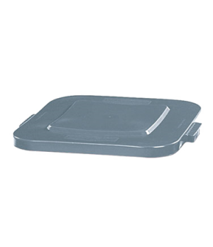 "Square BRUTE® Container Lid, 22""D x 2""H, for 3526 container, tight-fitting, gray"