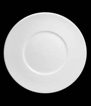 "Plate, 12"" dia. (6-1/2"" well), round, flat, wide rim, porcelain, Tria, Wish (min"