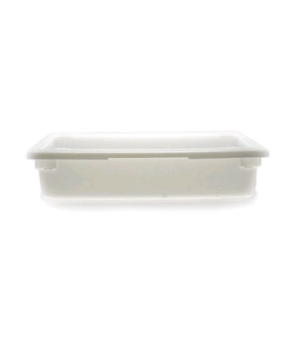 "Food Storage Container, 18"" x 26"" x 6"", 8.75 gallon capacity, natural white, pol"