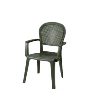 Seville Highback Stacking Armchair, designed for outdoor use, open mesh back, Ke