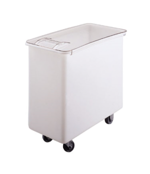 Ingredient Bin, mobile, 34 gallon capacity, molded polyethylene with sliding cov