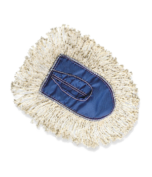 Kut-A-Way® Wedge Dust Mop, head only, cut-end, white
