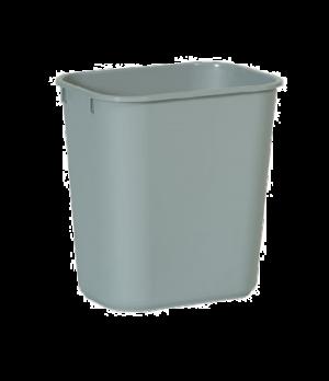 "Waste Basket, 13-5/8 qt., 11-3/8""W x 8-1/4""D x 12-1/8""H, small, soft, rolled rim"