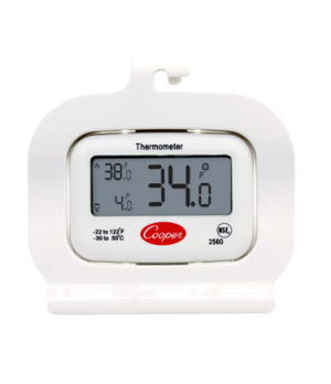 Refrigerator/Freezer Thermometer, digital, temperature range: -22° to 122°F (-30