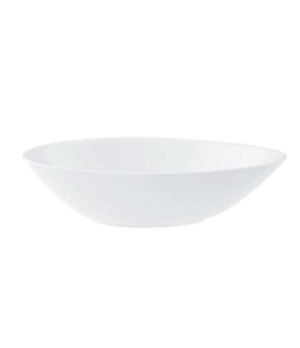 "Bowl, 7-1/2"" x 5-1/8"", 11-3/4 oz., oval, deep, premium porcelain, Marchesi"