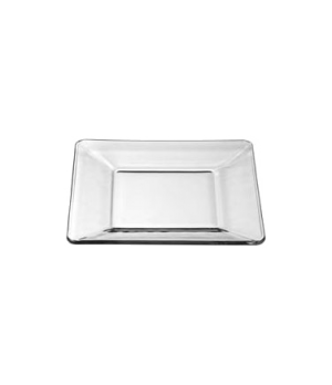 "Plate, 6"", square, glass, Tempo, (H 1/2""; T 6""; D 6"")"