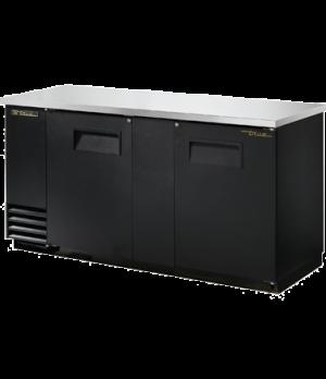 "Back Bar Cooler, two-section, 37"" high, (112) 6-packs or (3) keg capacity, (4) s"