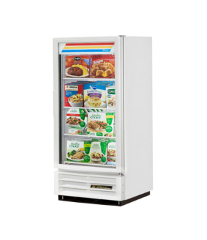 Freezer Merchandiser, one-section, -10° F, (3) shelves, white exterior, trim, an