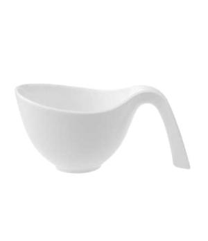 "Cup, 7-1/2"" x 4-3/4"", 15 oz., with handle, premium porcelain, Flow"